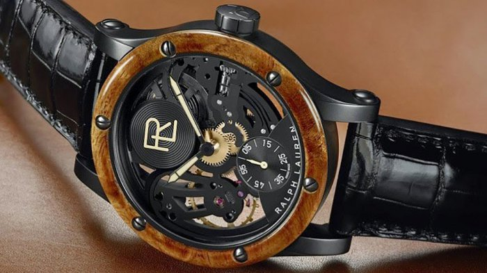 Часы Skeleton Automotive Watch от Ralph Lauren